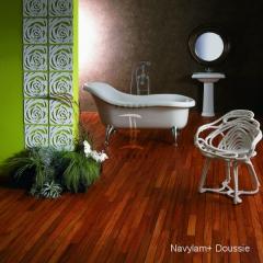 Navylam+ dřevěná podlaha do koupelny z Doussie