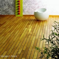 Navylam+ dřevěná podlaha do koupelny z Akácie
