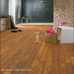 Navylam+ dřevěná podlaha do koupelny z Teaku 9x88 mm