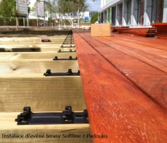 Montáž terasových prken Softline z Padouku