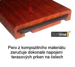 Terasové prkno Softline - pero z kompozitního materiálu