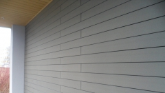 WPC fasáda šedá+žlutozelená stěna