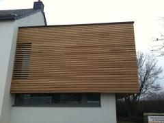 Dřevěná provětrávaná fasáda Techniclic z topolu