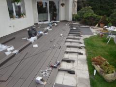 Montáž wpc terasy Likewood 23 z plných prken