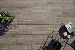 Velkoformátová dlažba na terasu TIMBER hnědá 40x120 cm