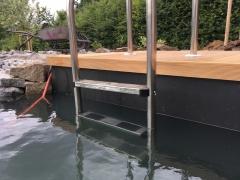 Realizace dřevěné terasy Garapa u bazénu - 2018