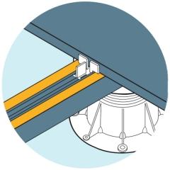 Ilustrace použití ochranné pásky U-BRS-EPDM