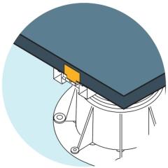 Ilustrace použití zarážky U-BRS-STOP