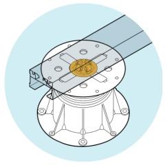 Uchycení alu profilu U-BRS pomocí držáku PB-KIT-8