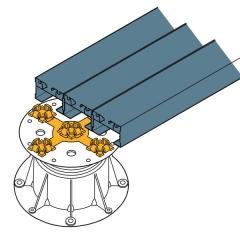 Uchycení více profilů U-BRS pomocí držáku PB-KIT-2