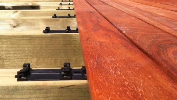 Dřevěné terasy Vetedy Sofline - klipy, hranoly, vruty