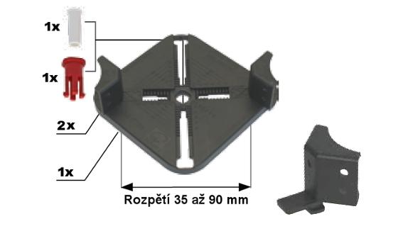 Rektifikační terče Buzon - Držák roštu, rozpětí 30-90 mm