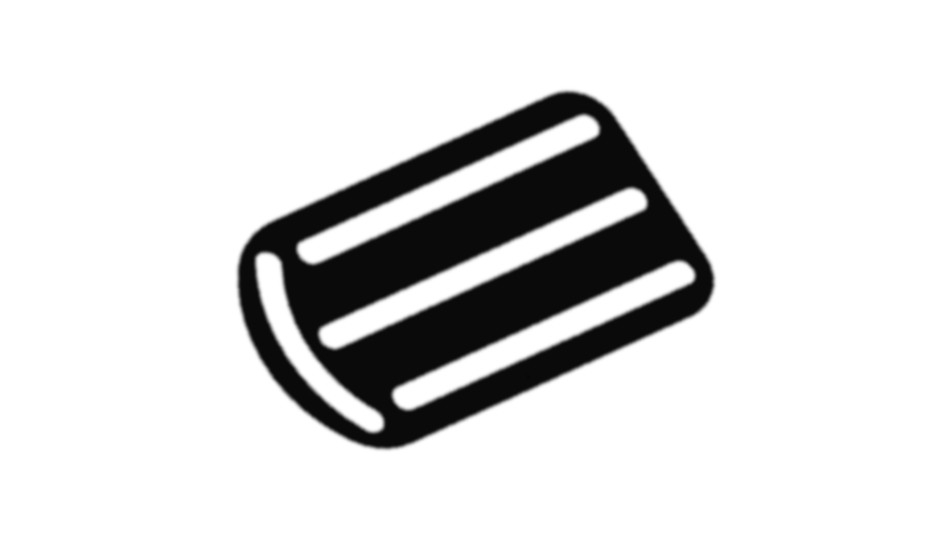 EPDM podložky U-E10/E20-EDGE pro U-EDGE podpěru dořezů dlažby