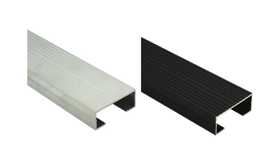 Hliníkové profily U-BRS-WOOD pro pokládku terasových prken | Fasády & Terasy s.r.o.