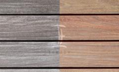 Terasová prkna dřevěná - Fasády & Terasy s.r.o. - Prkna Softline IPE po instalaci a po 6 měsících bez ošetření