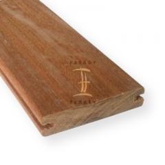 Dřevěné terasy - terasová prkna s boční drážkou | Fasády & Terasy s.r.o. - Terasové prkno Cumaru hladké s boční drážkou
