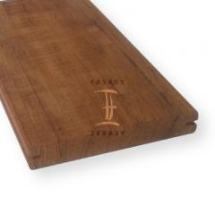 Dřevěné terasy - terasová prkna s boční drážkou | Fasády & Terasy s.r.o. - Terasové prkno Teak hladké s boční drážkou