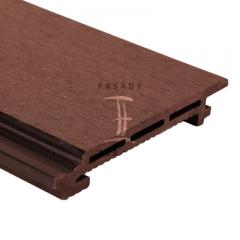 Fasádní obklad z wpc (dřevoplastu) | Fasády & Terasy s.r.o. - Fasádní obklad z WPC - červenohnědý odstín