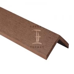 WPC fasády (dřevoplastové) - příslušenství | Fasády & Terasy s.r.o. - WPC lišta okrajová rohová 45 x 45 mm