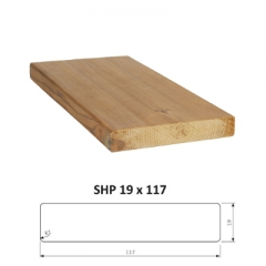SHP hladce hoblovaná prkna ThermoWood®  - Hoblovane prkno ThermoWood SHP 19x117 mm