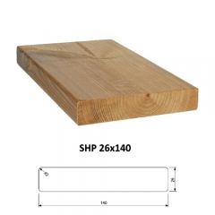 SHP hladce hoblovaná prkna ThermoWood®  - Hoblovane prkno ThermoWood SHP 26x140 mm