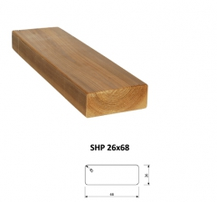 SHP Hranoly a latě ThermoWood® | Fasády&Terasy - SHP hranol ThermoWood 26x68 mm