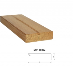 SHP Hranoly a latě ThermoWood® | Fasády&Terasy - SHP hranol ThermoWood 26x92 mm