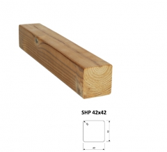 SHP Hranoly a latě ThermoWood® | Fasády&Terasy - SHP hranol ThermoWood 42x42 mm