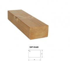 SHP Hranoly a latě ThermoWood® | Fasády&Terasy - SHP hranol ThermoWood 42x68 mm