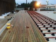 Montáž dřevěné terasy Softline Ipe pomocí terčů BUZON