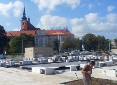 Rektifikační terče pod dlažbu - realizace Brno 2014 - z dálky