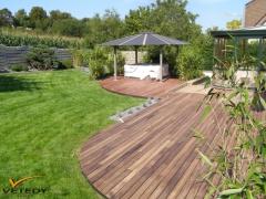 Dřevěná terasa Softline z padouku