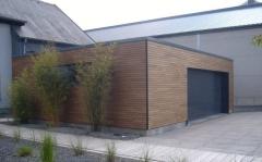 Dřevěné obložení garáže thermotopol