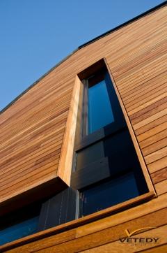 Dřevěná fasáda Iroko