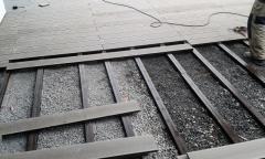 Pokládka wpc terasy z plných wpc prken 23x150 mm, odstín terra