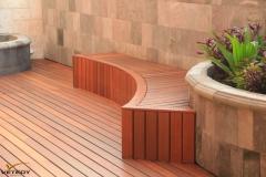 Dřevěná terasa a lavička Softline - Merbau