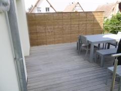 Dřevěný plot ze systému Techniclic (Vetedy)