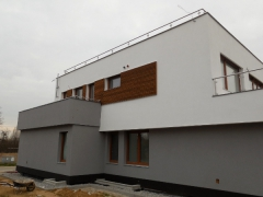 Dřevěná fasáda Techniclic, Ayous, šíře 60mm, mezerníky 10mm (ČR)