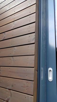 Detail dřevěného fasádního obkladu SSS Rhombus 20x92 mm