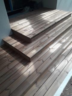 Dřevěná terasa termowood borovice, Jevany (2019)