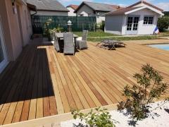 Dřevěná terasa Softline z Cumaru s neviditelným uchycením