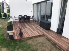 Dřevěná terasa z padouku, systém Softline, 14 dní bez nátěru