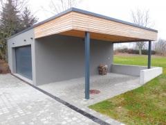 Dřevěné obložení garážového stání sibiřský modřín latě, viditelné vruty