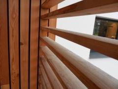 Dřevěné obložení sibiřský modřín detail