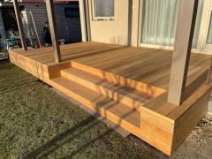 Dřevěná terasa Garapa (realizace 3/2021, Řež)
