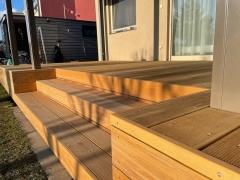 Dřevěná terasa Garapa - detail  (realizace 3/2021, Řež)