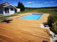 Dřevěná terasa z cumaru, systém Softline