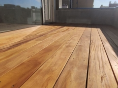 Dřevěná terasa z garapy, hladký profil 21x145 mm