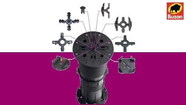 Rektifikační terče pod dlažbu BUZON | Fasády & Terasy - Rektifikační terče BUZON® - série PB