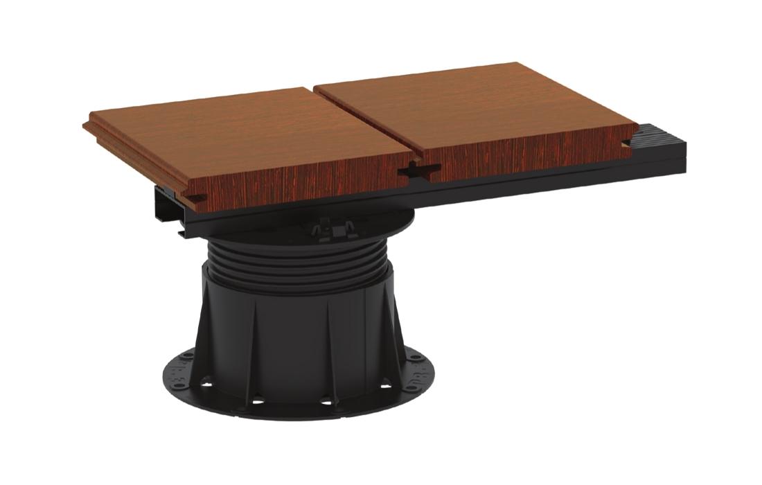 BUZON U-BRS - rychlejší a přesnější pokládka teras z dlažby i prken | Fasády&Terasy - U-BRS-WOOD systém - montáž terasových prken na alu profily